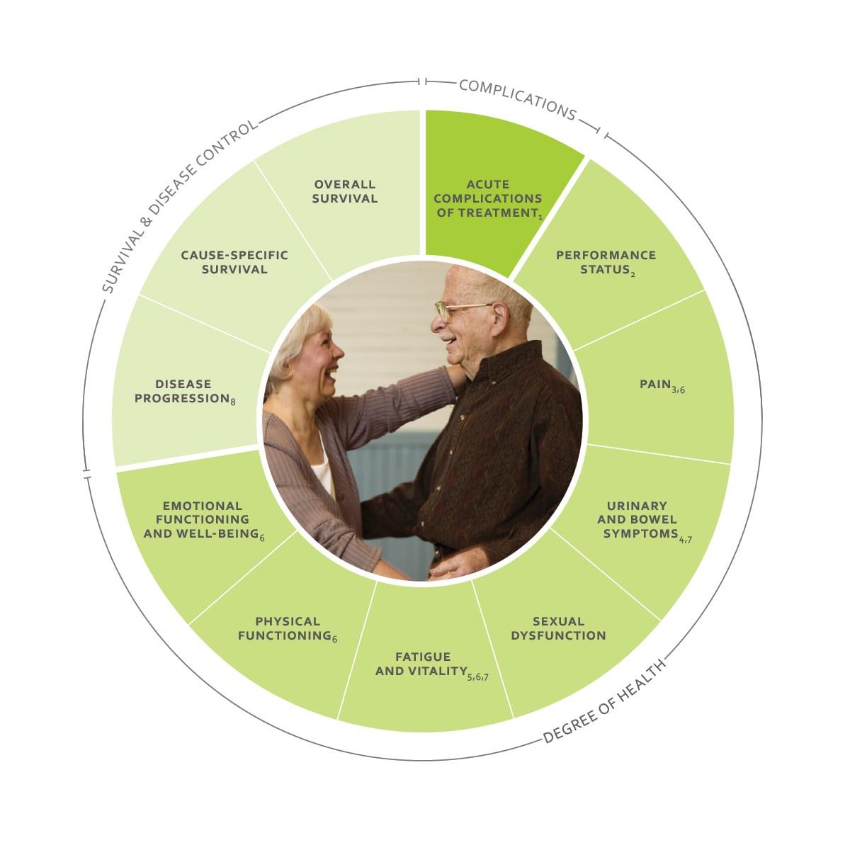 ICHOM Standard Sets Advanced Prostate Cancer Outcomes Wheel
