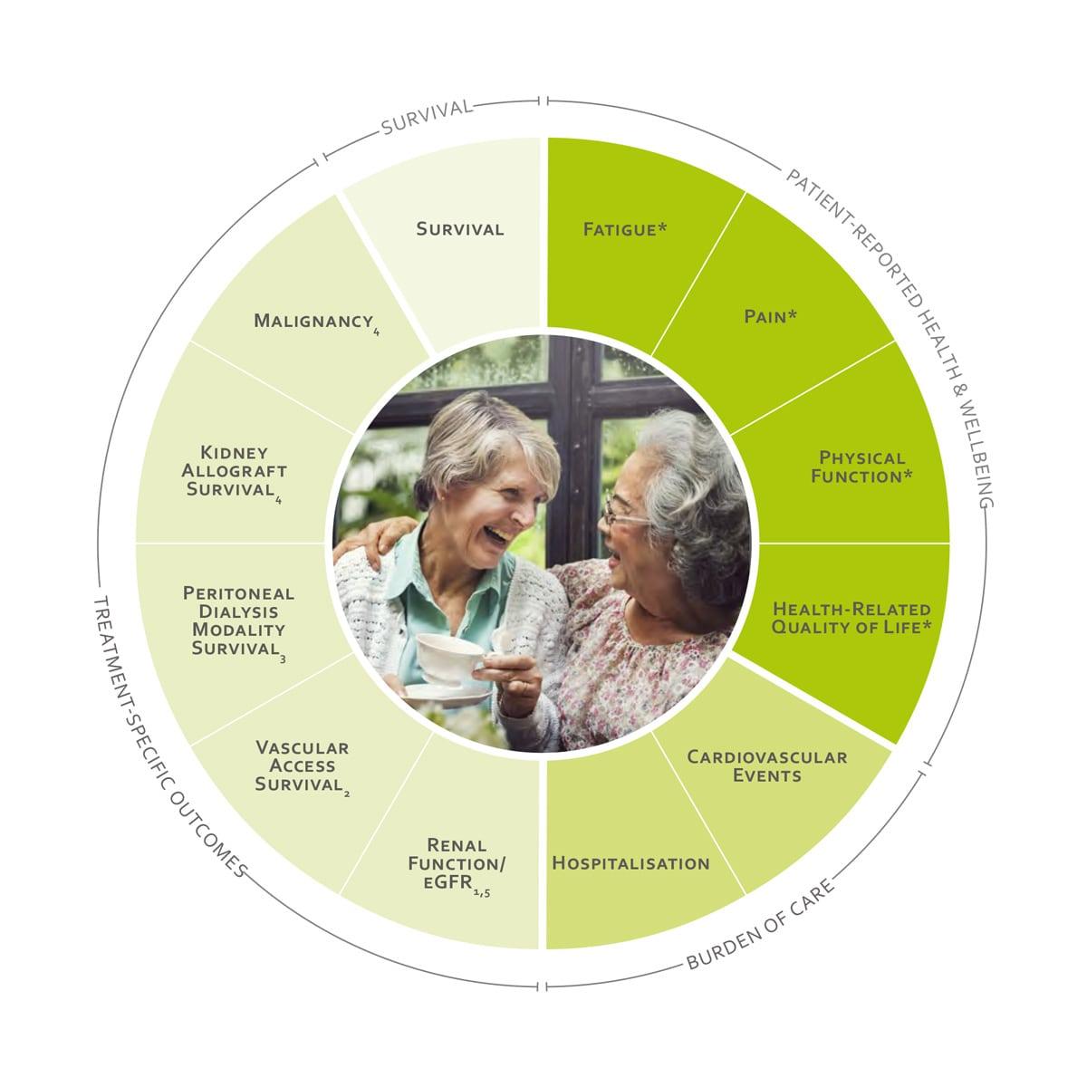 ICHOM Standard Sets Chronic Kidney Disease Outcomes Wheel
