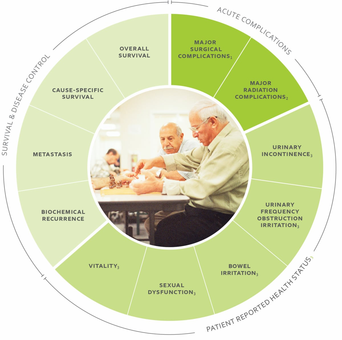 ICHOM Standard Sets Localized Prostate Cancer Outcomes Wheel