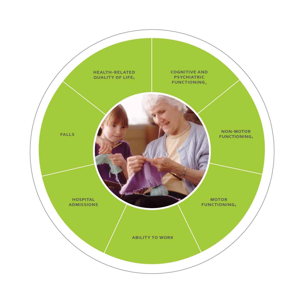 ICHOM Standard Sets Parkinson's Outcomes Wheel
